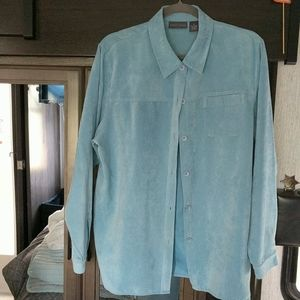 Relativity suede feel button down shirt jacket